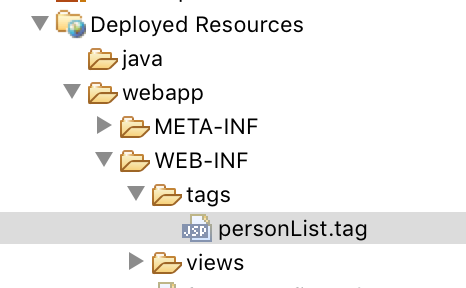 WEB-INF/tags directory