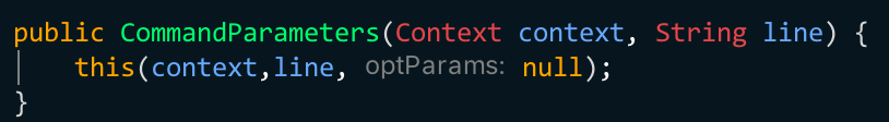 Pseudo named parameters